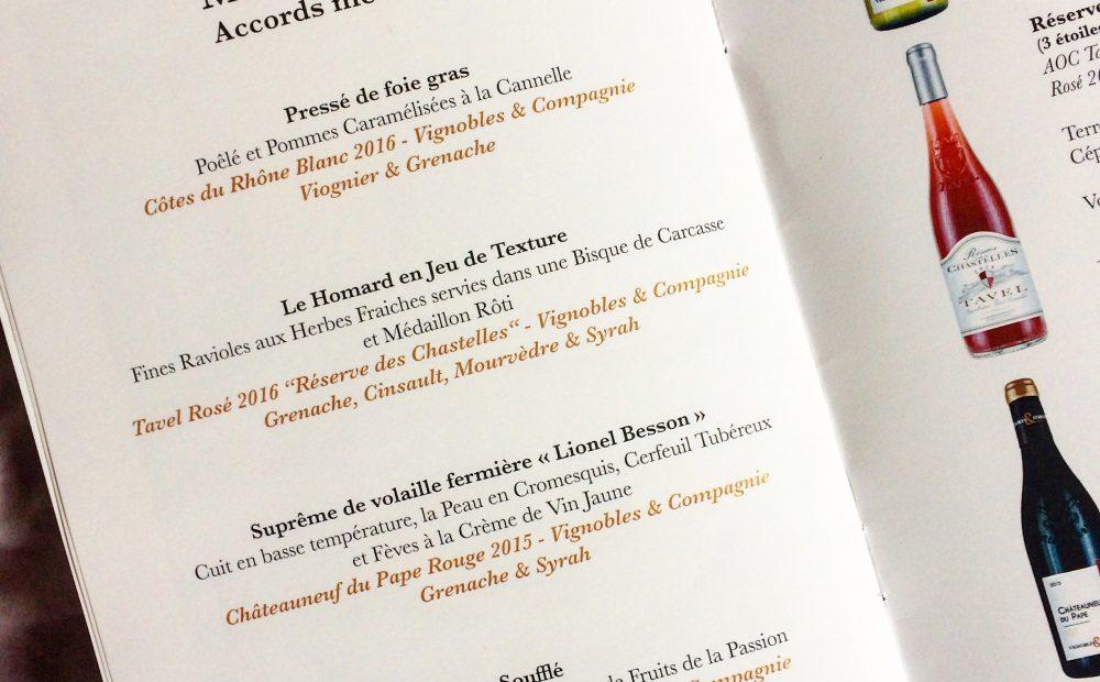 Bégude Saint-Pierre Menu - V&Co